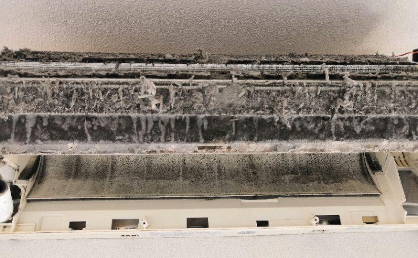 シャープのフィルター自動清掃付きエアコンクリーニング AY-A40SX